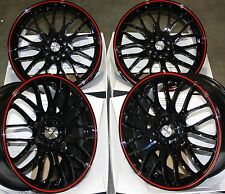 "18"" BLACK RED MOTION ALLOY WHEELS FITS BMW MINI R50 R52 R55 R56 R57 R58 R59"