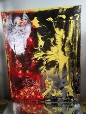 Modern Abstract Painting On Canvas Artist MUSK YAI 16x20 Original Artwork ANGEL