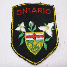 "VTG Ontario Canada Crest 2"" x 2-3/4"" Sew On Patch"