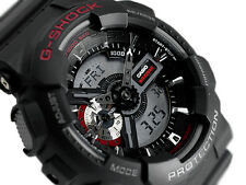 Casio G-Shock Black Red XL 200M GA110-1AER Analogue Digital Watch