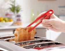 Tostapane PINZE rosso da cucina in silicone Utensil TOAST