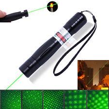 2000M 532nm 0.5mw Gamma Verde Laser Puntatori Penna Burning Fuoco Con Stella Cap
