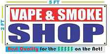 VAPE & SMOKE SHOP Banner Sign NEW XXL Size Best Quality for the $$$$ RW&B
