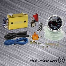 """2"""" DIGITAL LED 35PSI BOOST GAUGE DUAL SETTING SWITCH TURBO BOOST CONTROLLER GOLD"""