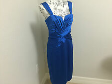 Calvin Klein Electric Blue Acetate Blend Dress sz 8 Bust 36 in W 32 in L 39 in