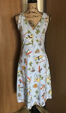 Disney Womens Medium Blue Sleeveless Mickey Minnie Beach Vacation Hawaiian Dress