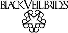 BLACK VEIL BRIDES BLACK PEEL AND RUB ON VINYL DECAL !