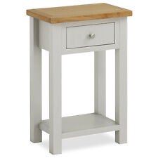 Farrow Painted Hall Table with Oak Top / Stone Painted Small Console Table