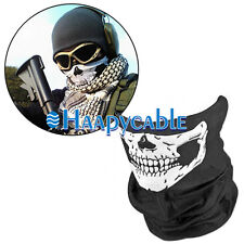 New Motorcycle Ski Biker Skeleton Ghost Skull Neck Face Mask Headband Bandana