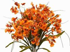 240 Orange SILK ORCHID FLOWERS Wedding Discounted Bouquets for Centerpieces SALE