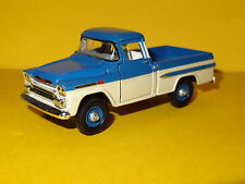 1959 CHEVY APACHE 4X4 FLEETSIDE BLUE 1/64 SCALE LIMITED EDITION REAL RUBBER P
