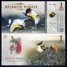 Atlantic Forest 1 Aves Dollar 2015 - Birds of Paradise