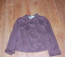 Women's Kim Rogers Brown Button Front Jacket with Pleats Size Large L