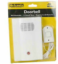 DOORBELL WALL MOUNTED WIRED DOOR BELL CHIME DOOR BELL BATTERY POWERED WIRE