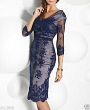 Navy Blue Lace Mother Of The Bride Outfit Wedding Guest Dress Woman Formal Dress