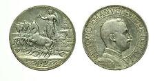 pcc1556_1) Vittorio Emanuele III (1900-1943) - 2 Lire Quadriga Veloce 1912 TONED