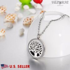 Tree of Life Aromatherapy Perfume Essential Oil Diffuser Necklace Locket