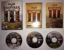 Age of Empires III 3 PC CIB Complete 3 Discs with Manual Computer Game