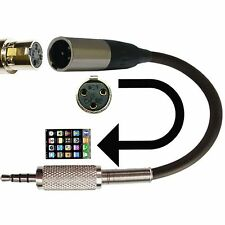 Ta3f 3 Pin Mini Micrófono Xlr Adaptador Para Ipad Iphone Ipod Video aplicaciones de audio
