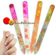 4pcs Pro Flower Glass Nail Art Files Crystal Buffer Manicure Tool Kit Durable