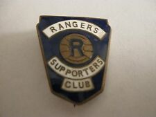 RARE OLD GLASGOW RANGERS SCOTTISH FOOTBALL CLUB (2) ENAMEL BROOCH PIN BADGE