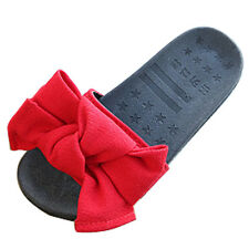 Summer Kids Girls Cotton Cloth Slippers Bow Antiskid Comfy Sandals Beach Shoes