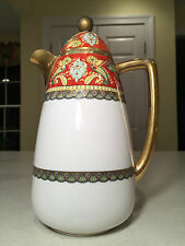 Antique 1914-1920's COIFFE LIMOGES Lidded French Porcelain CHOCOLATE/COFFEE POT