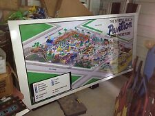 Myrtle beach pavilion amusement park boardwalk Map Large unique gameroom sign