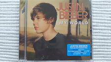 Justin Bieber My World (Rare/N Mint )UK Enhanced CD NEVER PLAYED PROMO STICKERED