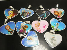 10pendants  10 desgins mix frozen stainless steel without chains Elsa Anna .