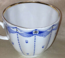LOMONOSOV CUP ONLY BLUE NET HEARTS GOLD TRIM LINES RUSSIA RUSSIAN FLUTED