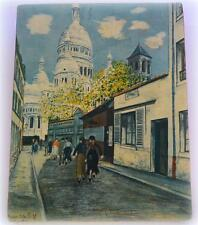 MAURICE UTRILLO .V. French Artist  MONTMARTRE  France