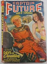 CAPTAIN FUTURE PULP SPR 1944 BRETT STERLING FREDRIC BROWN FINAL ISSUE