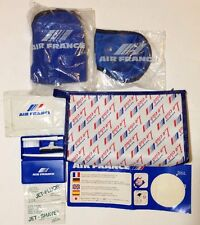 Air France Le Club Amenity Travel Set Change Purse Airplane Bag French Vintage