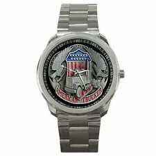 Trucker American Truck Driver USA Stainless Steel Sports Watch New!