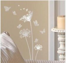 Silver Main Street Wall Creations Dandelions & Butterflies Wall Stickers, Decals