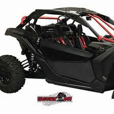 Can-Am Maverick X3 Lower Door Inserts (Gloss Black w/Red door frame)