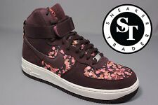 NIKE WMNS WOMENS AIR FORCE 1 HI LIB QS 706653-600 LIBERTY DEEP BURGUNDY SZ: 6.5