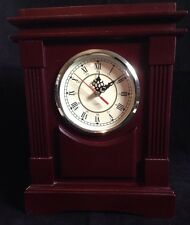 Wood Mantel Clock Battery Operated Quartz