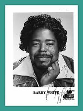 BARRY WHITE | Sänger | Original-Autogramm auf 20th-Century-Records-Starbild
