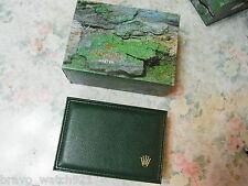Vintage Rolex Green Leather Box Set For 16600 Sea-Dweller