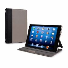 Tuff Luv Protege iPad Mini & Retina Case & Stand Grey Faux Leather Auto Sleep