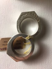 Maison Martin Margiela Silver plated twisted two ring Size M or 9.5 Summer 1953