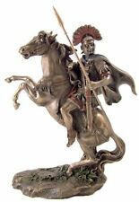 "10"" Roman Army Officer Centurion w/ Spear on Horseback Statue Sculpture Soldier"