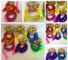 12PCS Party Bag Fillers Jump Rope Kids Toys Party Fun Game Neon Jump Ropes Lot