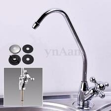 "1/4"" Reverse Osmosis System Kitchen Chrome RO Water Drinking Filter Faucet Tap"