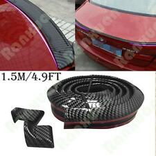 New Universal Carbon Fiber Rear Roof Trunk Lip Spoiler Wing Chin Rubber Sport