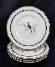 Theodore Haviland Limoges 1920's Bird of Paradise Porcelain Tea Plates x 4