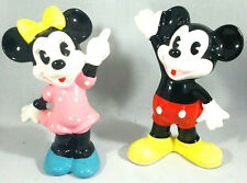 Vintage Disney Mickey & Minnie Mouse Figurines Figures Porcelain Ceramic Japan