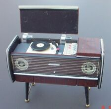 Phonograph Console Miniature Retro Vintage Styling 1/24 Scale Diorama Accessory
